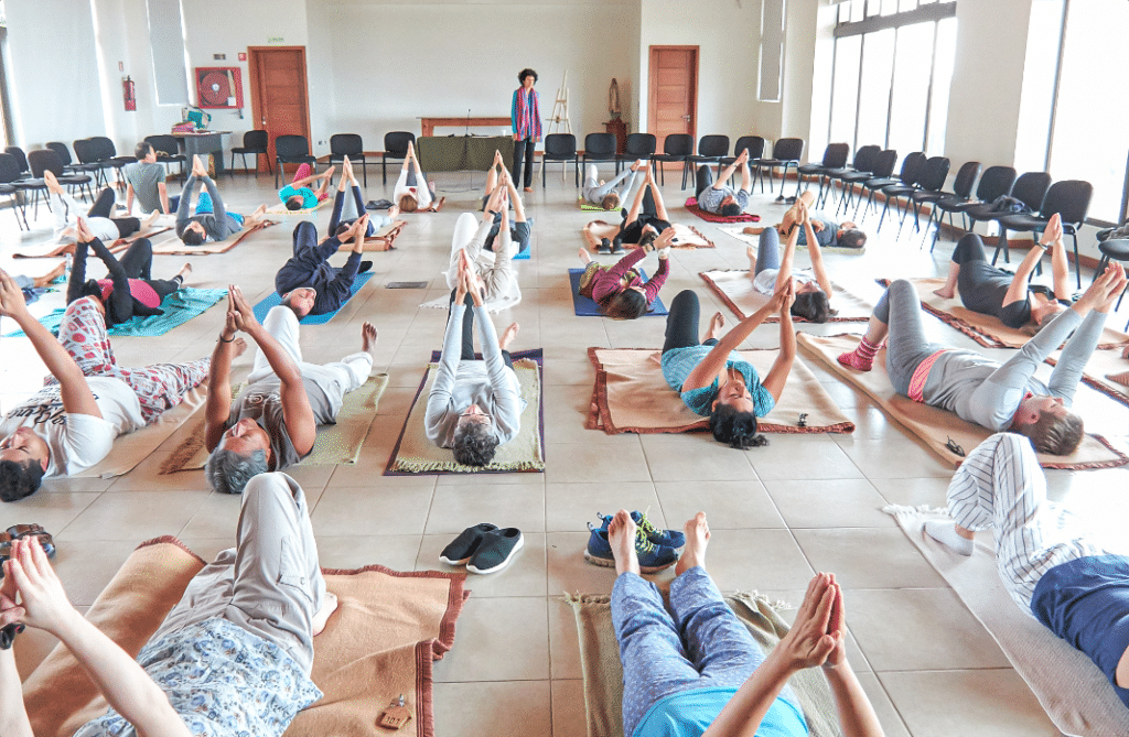 Group sessions to improve body mind connections