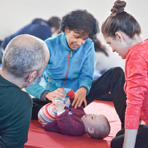 Awareness through movement with infants and parents